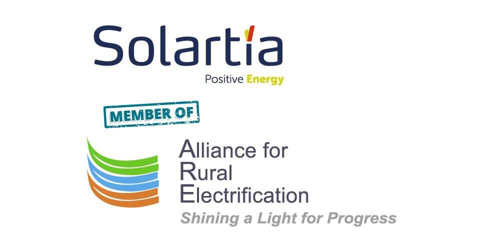 Solartia, miembro de Alianza por la Electrificación Rural, member of Alliance for Rural Electrification
