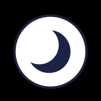 Icono Luna. Cuando no hay sol